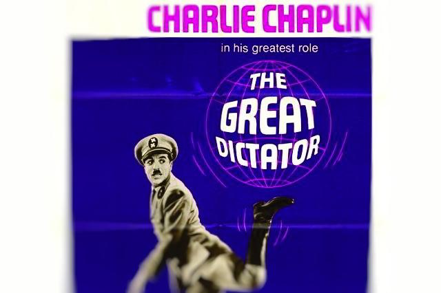 poster film politic dictatorul 1940 de charlie chaplin