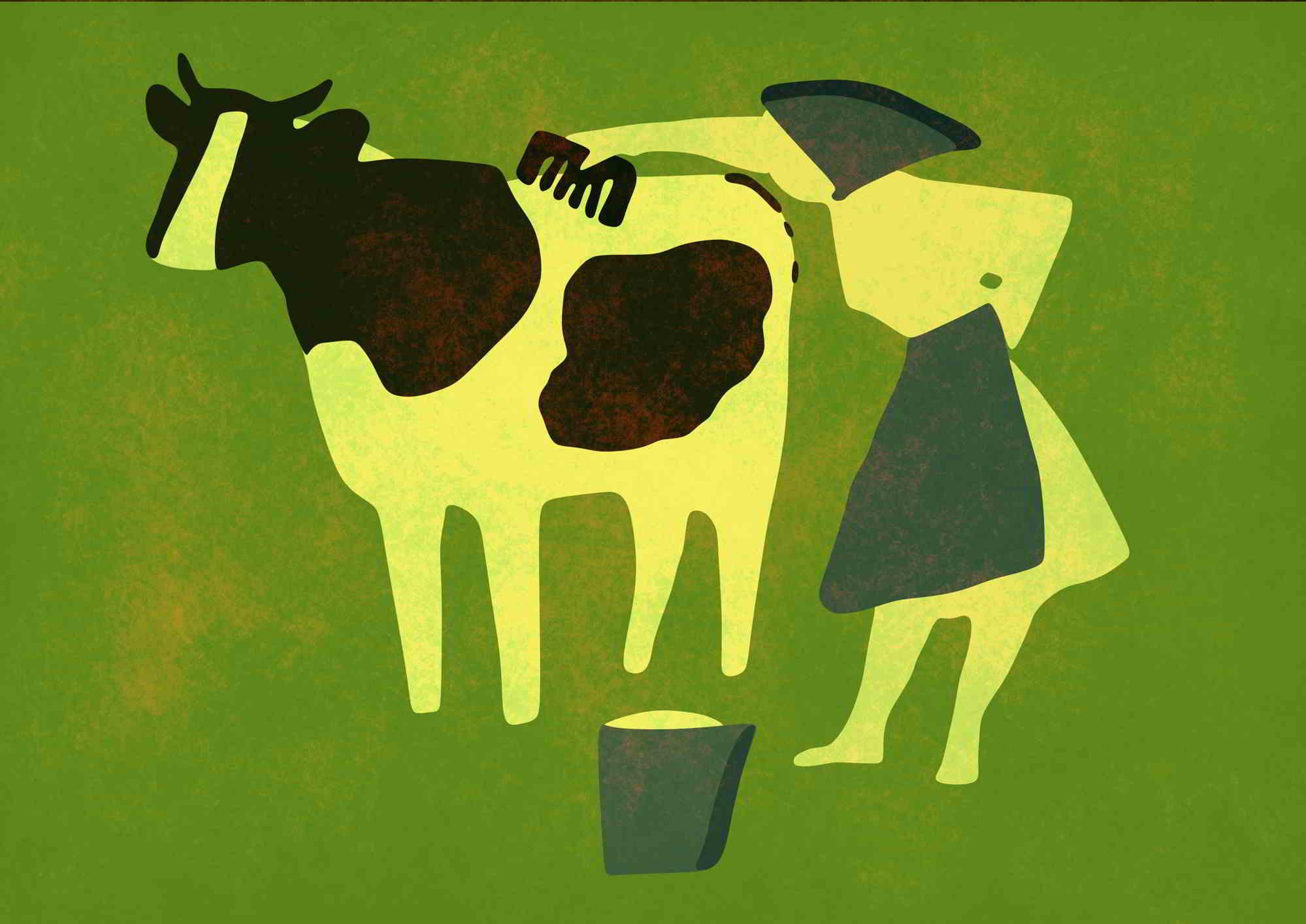 vaca Mila grafica vectoriala