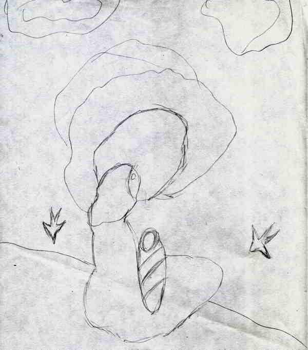 Mama si copilul desen in creion