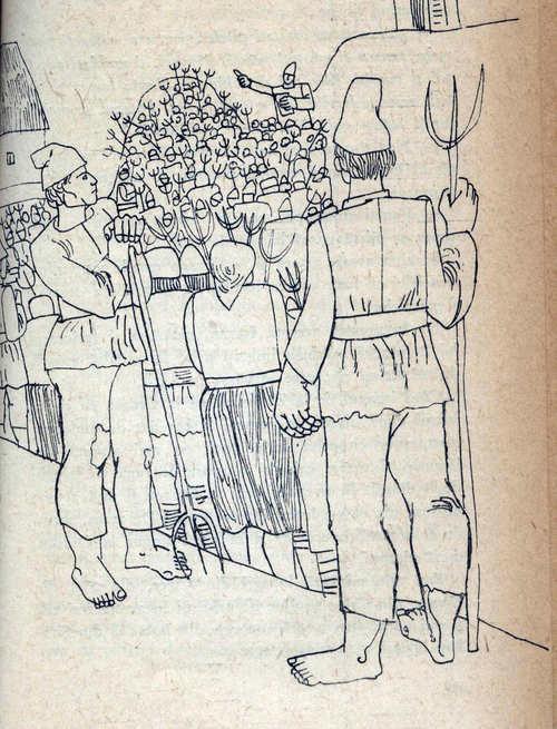 adunare rascoala ilustratie din vintoasa carte