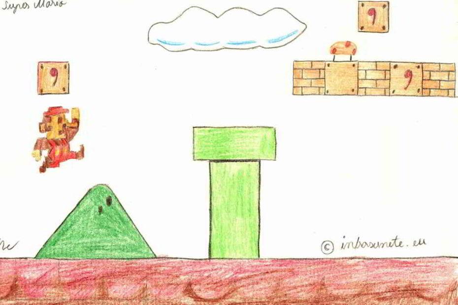 artwork in creion Super Mario