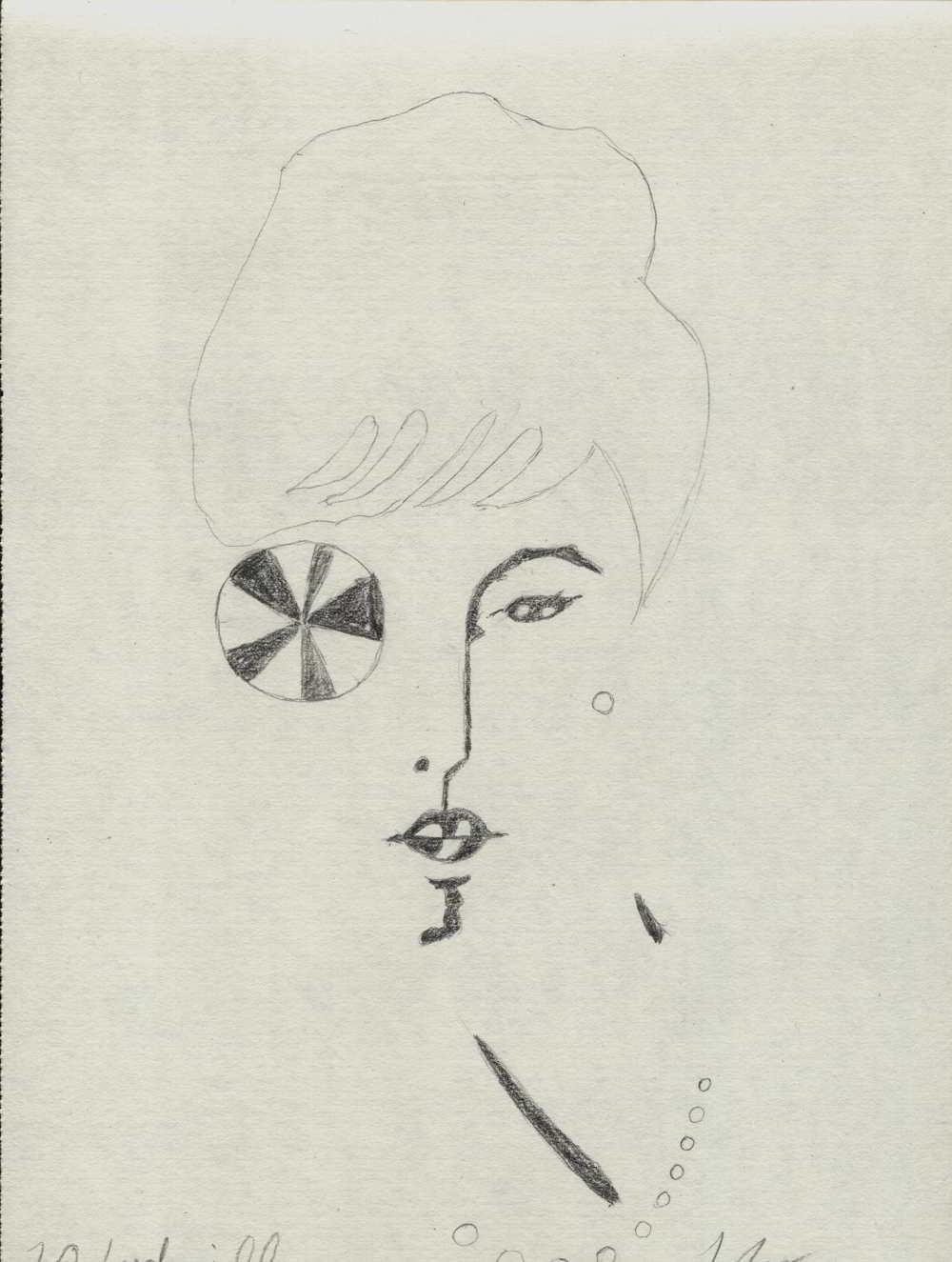 desen cap de femeie