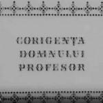 poster film Corigenta domnului profesor 1966