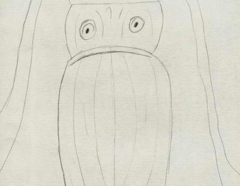 schita desen cu o caracatita