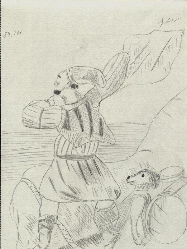 pescar si caine pe malul marii - la pescuit de ton