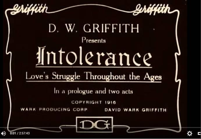 print-screen din filmul intoleranta 1916