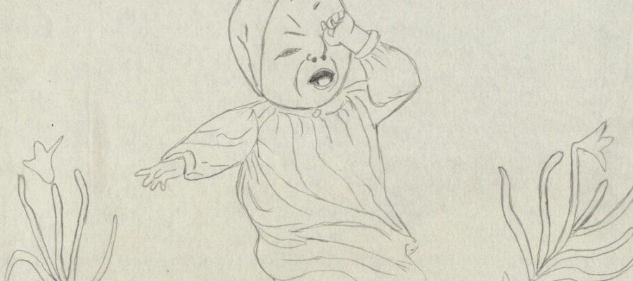 ilustratie copil Bebe Tei