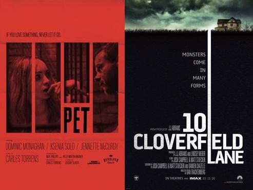 filme cu psihopati strada cloverfield 10 si animalul de companie poster