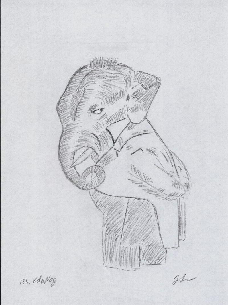 kala nag elefantul negru desen