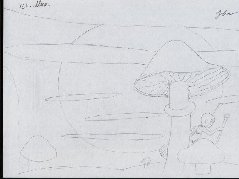 desen cu alieni