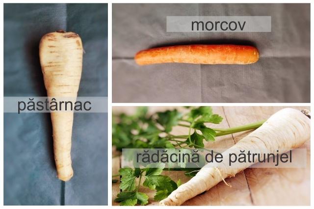 poze păstârnac, morcov și rădăcină de pătrunjel