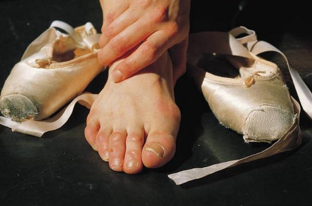 picioare de balerină după antrenament