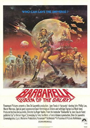 afiș barbarella film 1968