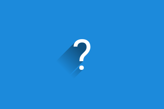semnul intrebarii pe fundal albastru