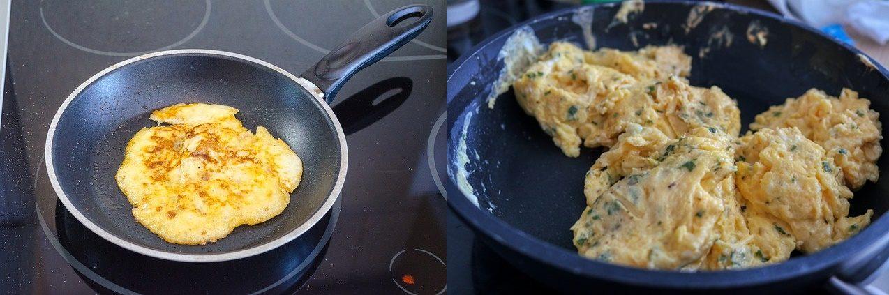 diferenta dintre omleta si oua jumari
